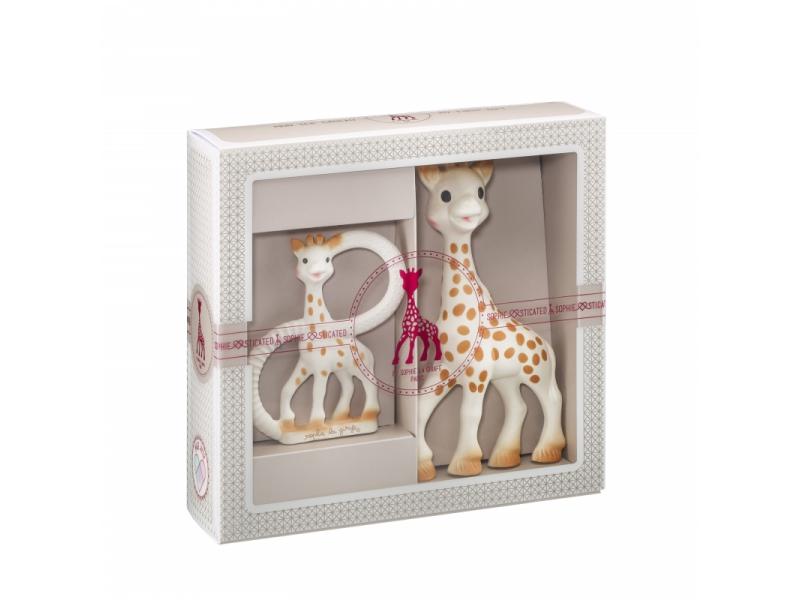 Vulli Můj první dárkový set (žirafa Sophie & kousací kroužek ze 100% přírodního kaučuku)