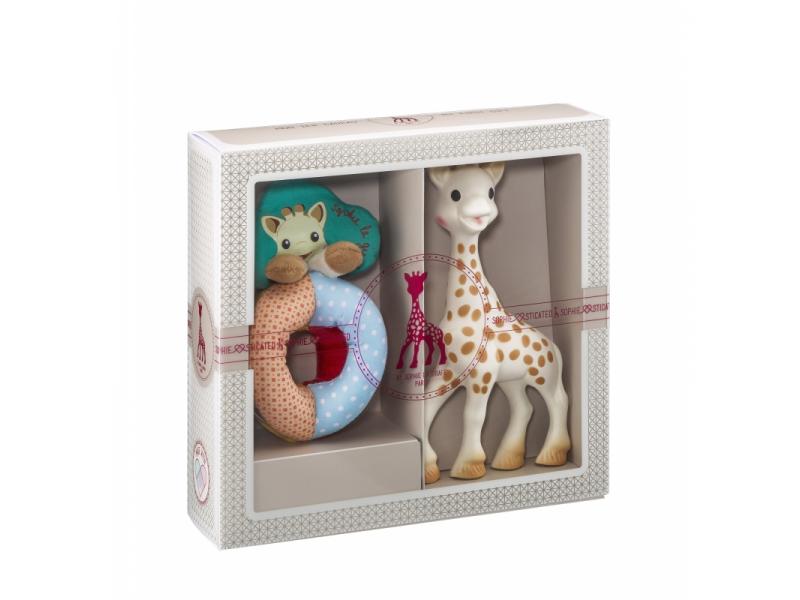 Vulli Můj první dárkový set (žirafa Sophie & měkké chrast. s korálky kolekce Sense & Soft)