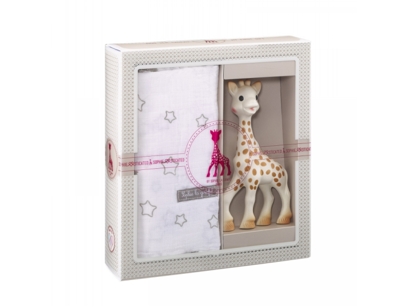 Vulli Můj první dárkový set (žirafa Sophie & zavinovačka o rozměrech 120 x 120 cm)