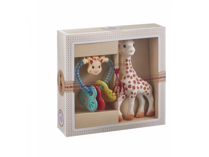 Můj první dárkový set (žirafa Sophie & oblíbené francouzské chrastítko) 1