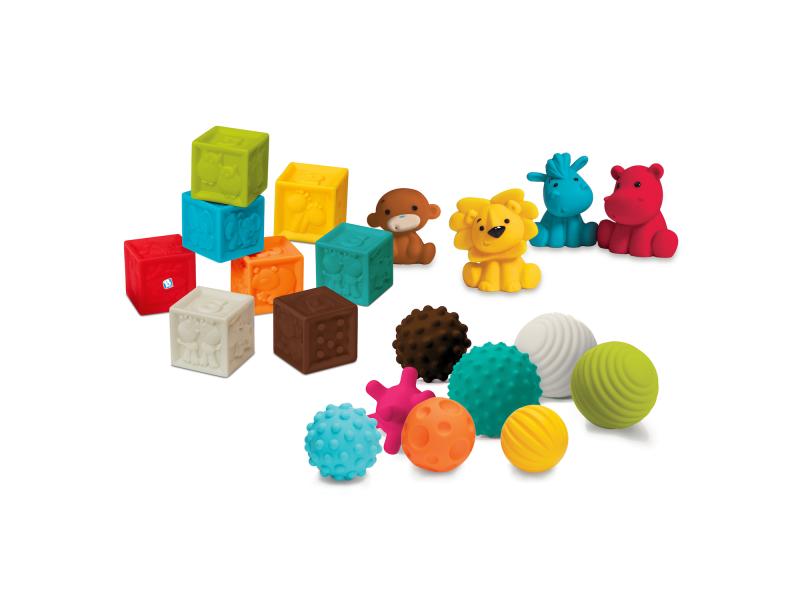B-Kids Senzorické míčky, kostky a zvířátka