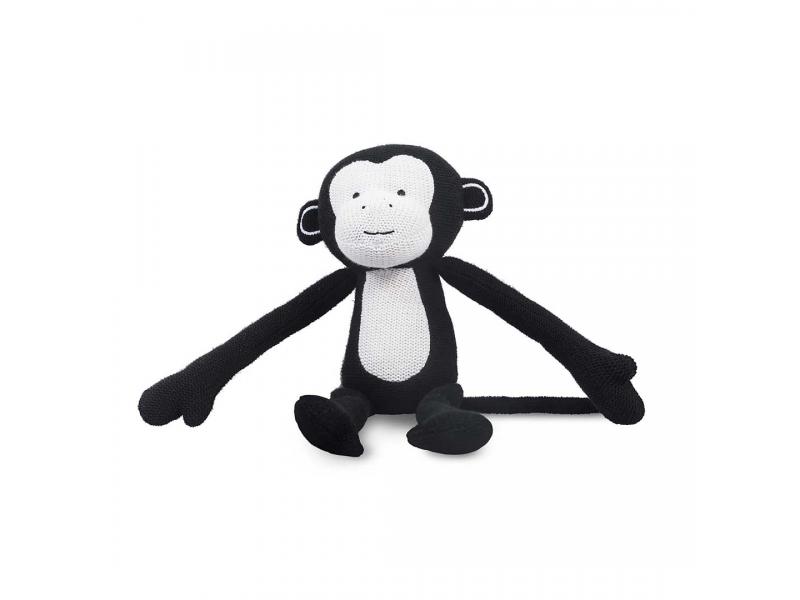 Pletená hračka opička, black 1