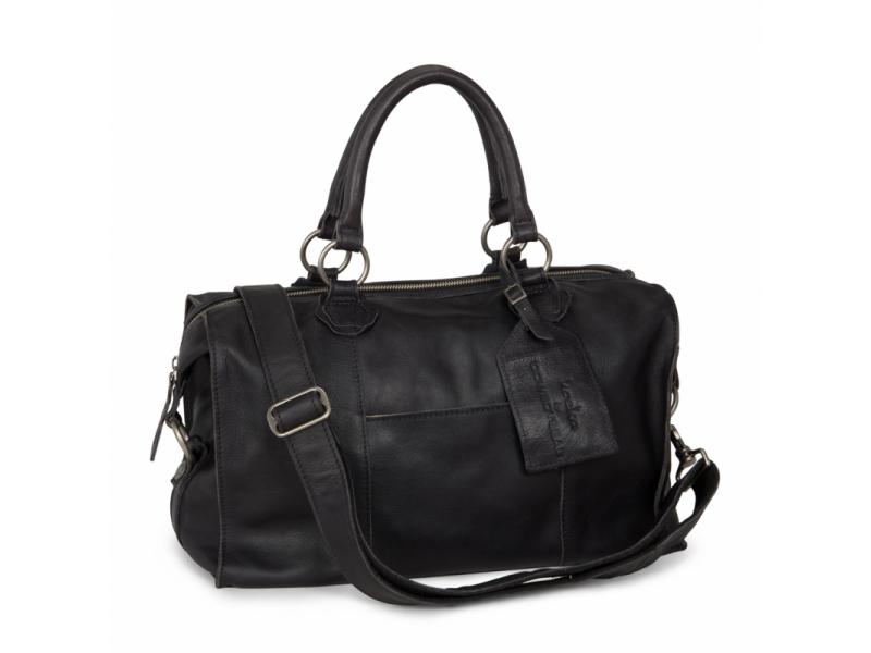Lugnano přebalovací taška z kůže - dark grey leer 1