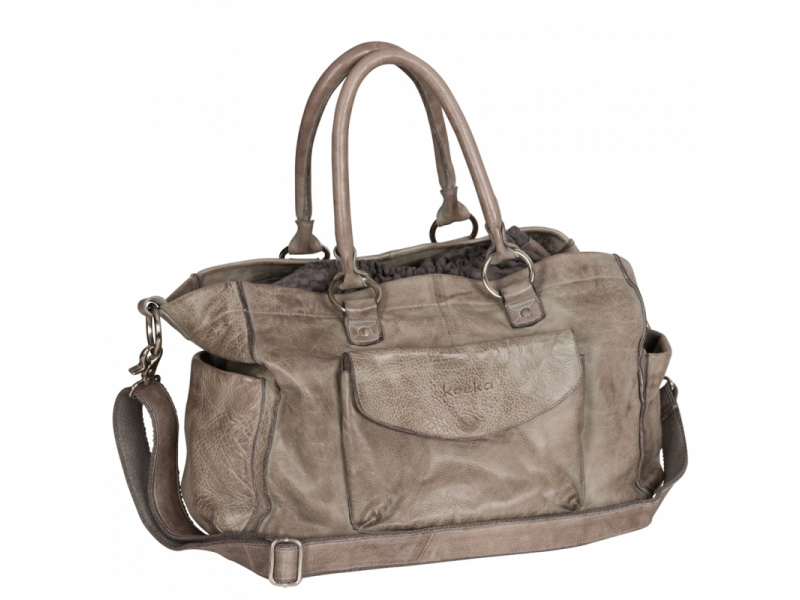 Koeka Livigno přebalovací taška z kůže taupe/dark grey