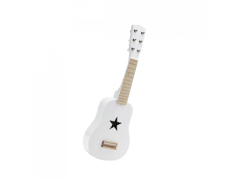 Kytara dřevěná bílá 1
