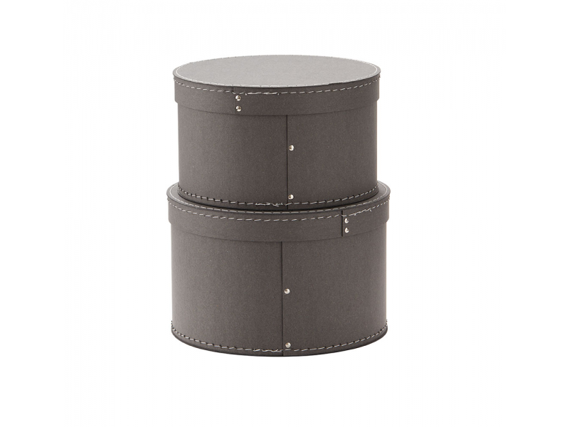 Kids Concept Krabice kulatá 2 ks Grey
