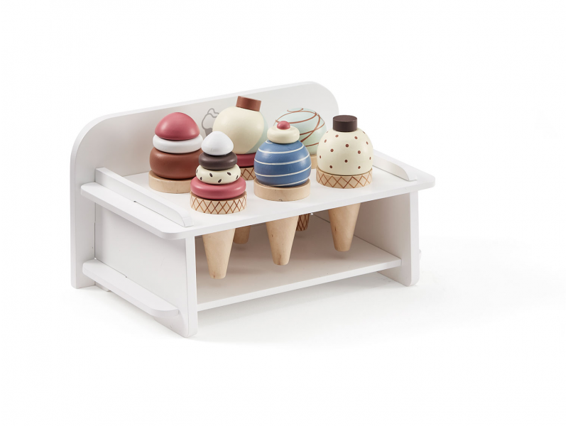 Zmrzlina dřevěná se stojanem Bistro 1