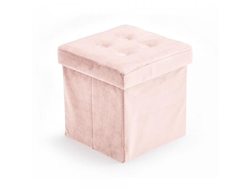 Úložný taburet Velvet Light Pink 1