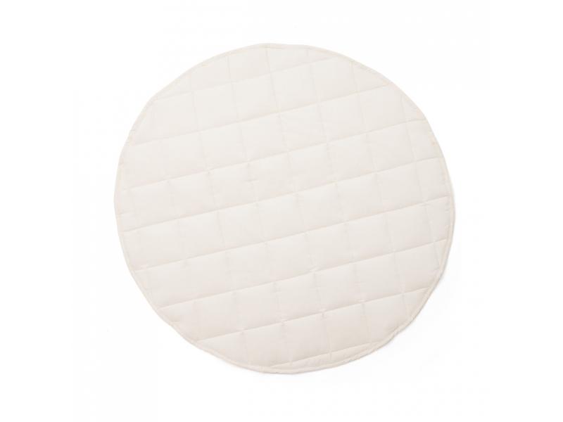 Hrací deka kulatá Off White 1