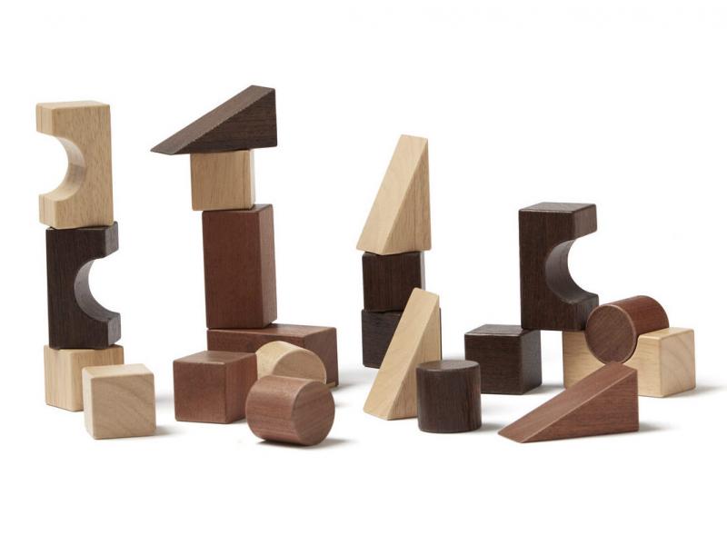 Kostky dřevěné 21 ks Neo 1
