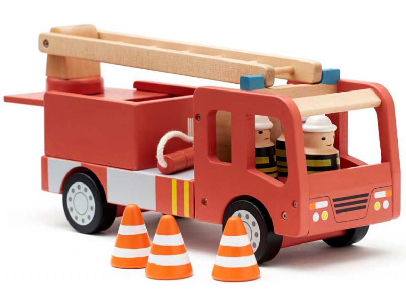 Hasičský náklaďák Aiden dřevěný 1