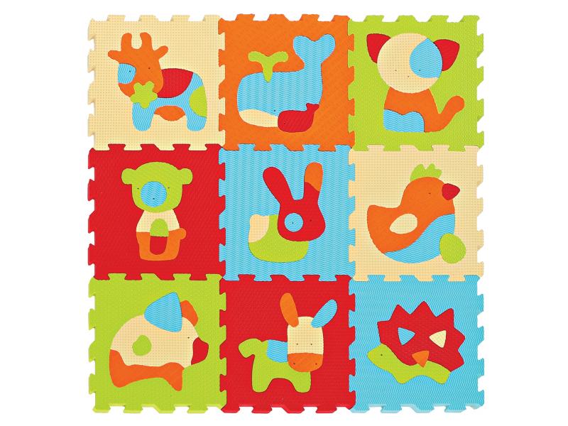 Ludi Puzzle pěnové 90x90cm Zvířátka