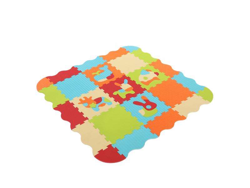 Ludi Puzzle pěnové 120x120cm Zvířátka