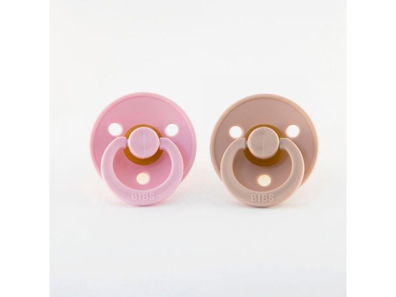 Dudlíky baby pink-blush - velikost 1, zpřírodního kaučuku 2ks 1