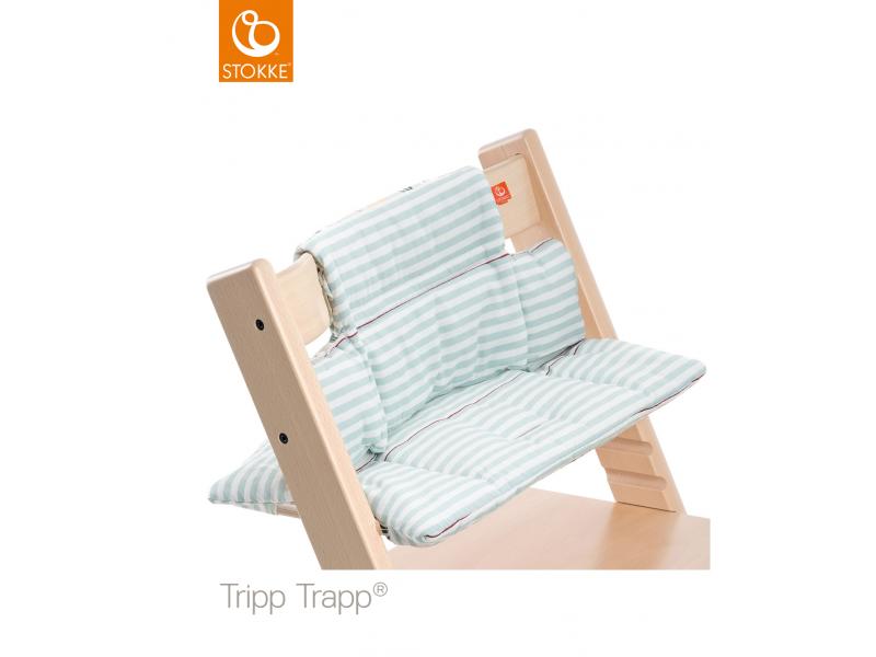 Stokke Polstrování classic k židličce Tripp Trapp® - Aqua Stripes