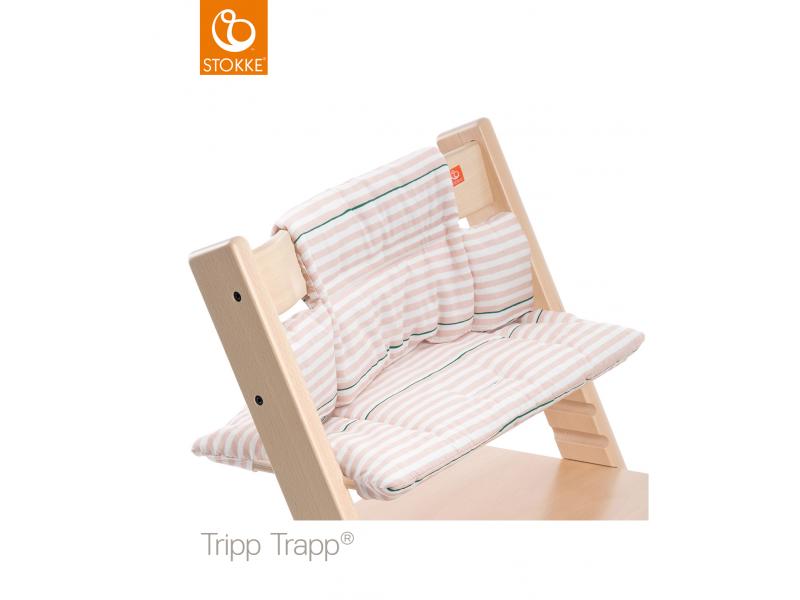 Stokke Polstrování classic k židličce Tripp Trapp® - Pink Stripes