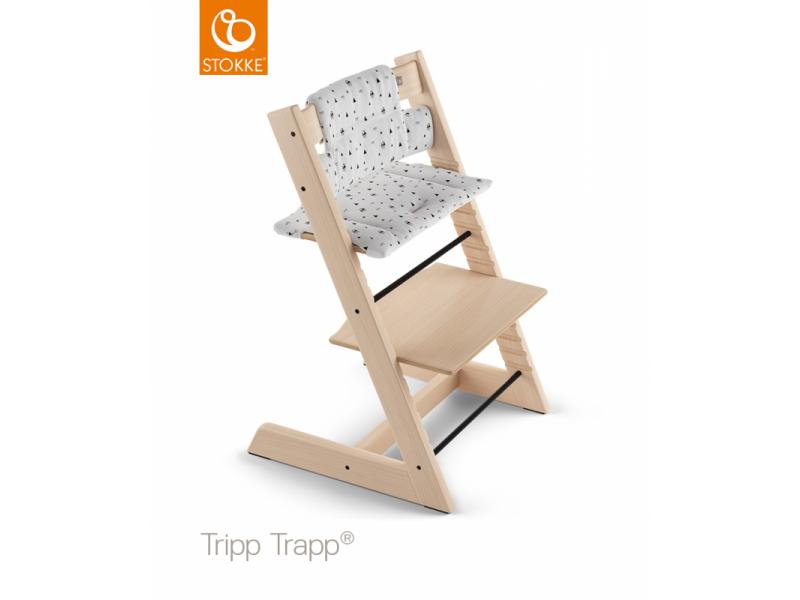 Stokke Polstrování classic k židličce Tripp Trapp® - White Mountains (Organic Cotton)