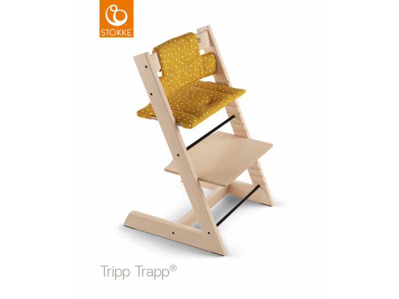 Stokke Polstrování classic k židličce Tripp Trapp® - Ocker Bee (Organic Cotton)