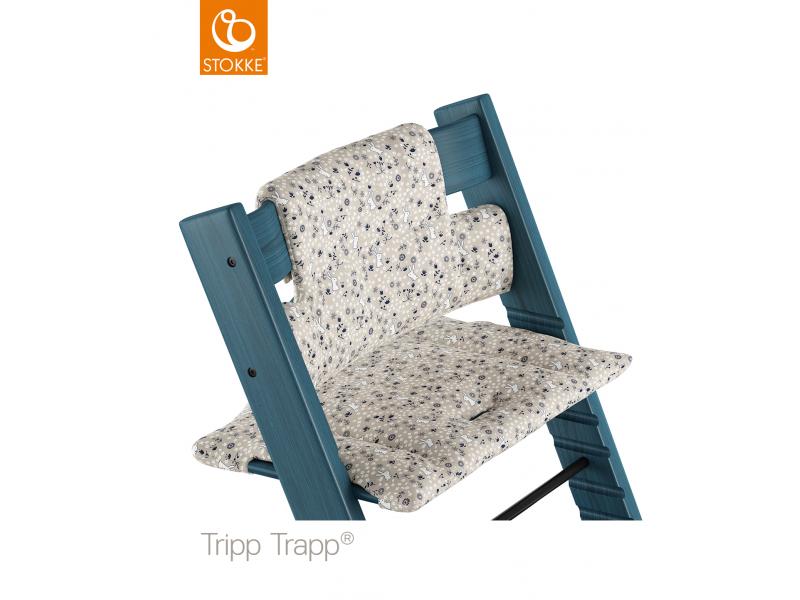 Stokke Polstrování classic k židličce Tripp Trapp® - Garden Bunny (Organic Cotton)