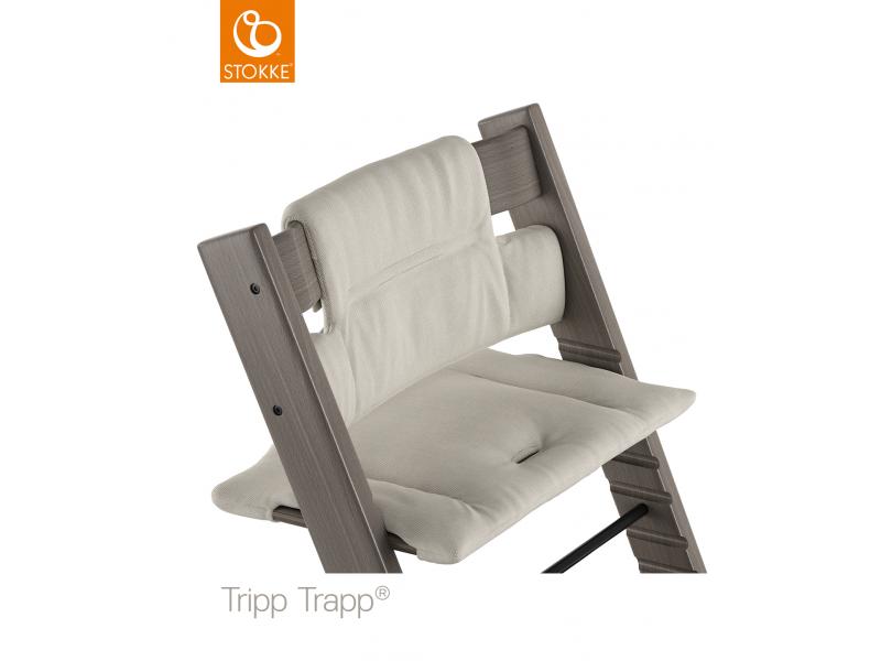 Stokke Polstrování classic k židličce Tripp Trapp® - Timeless Grey (Organic Cotton)