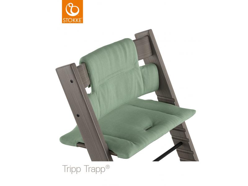 Stokke Polstrování classic k židličce Tripp Trapp® - Timeless Green (Organic Cotton)