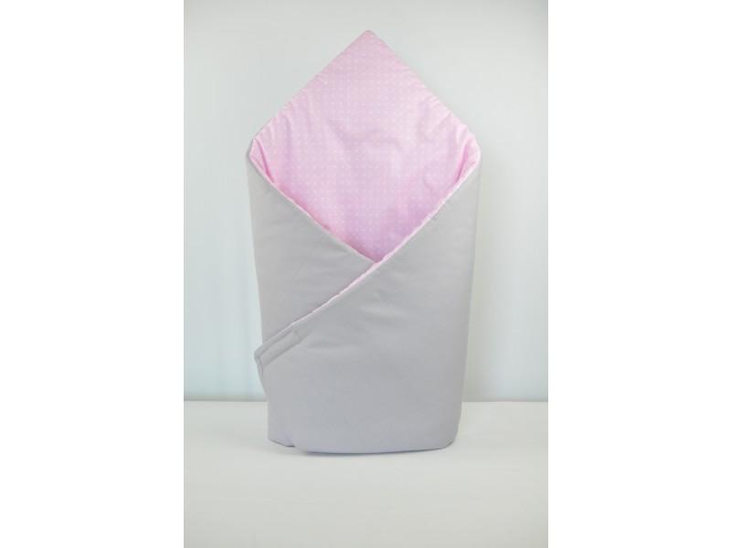 Zavinovačka basic, puntík v růžové, šedá 1