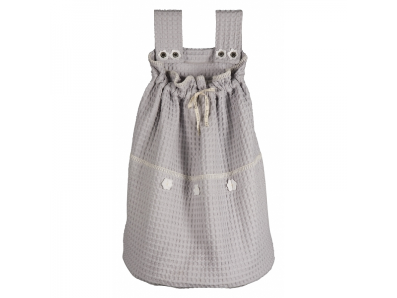 Koeka Pytel na hračky Amsterdam - silver grey/ white