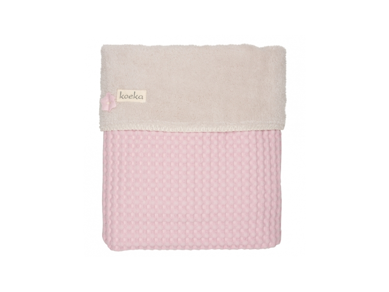 Koeka Deka do kočárku Oslo, waffle/teddy old baby pink/pebble