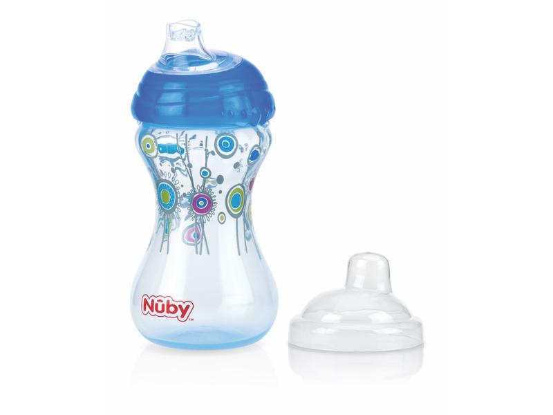 Nuby Netekoucí hrnek Clik-It 300ml modrý