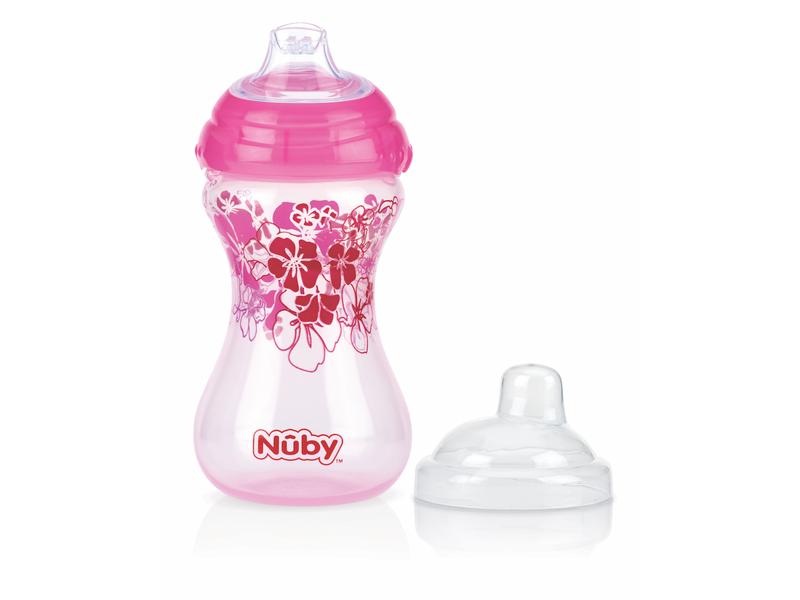 Nuby Netekoucí hrnek Clik-It 300ml růžový