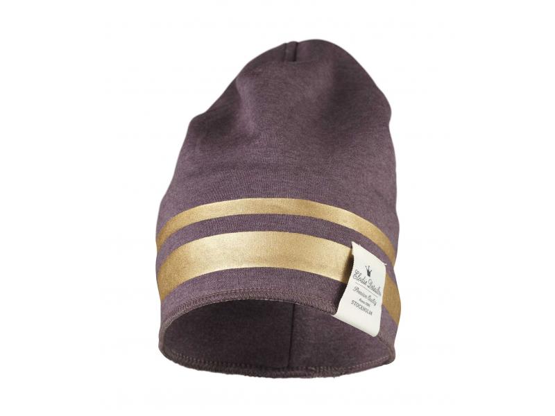 Elodie Details Zimní bavlněná čepice - Gilded Plum 0-6m