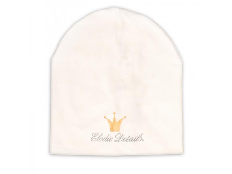 Elodie Details Čepice LOGO - Beanie Vanilla White 0-6 m