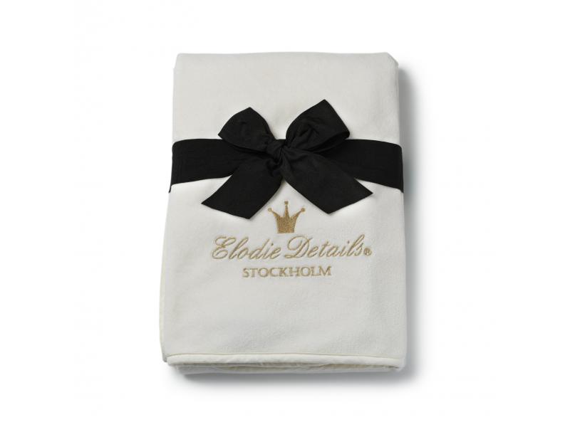Elodie Details Sametová deka Vanilla White