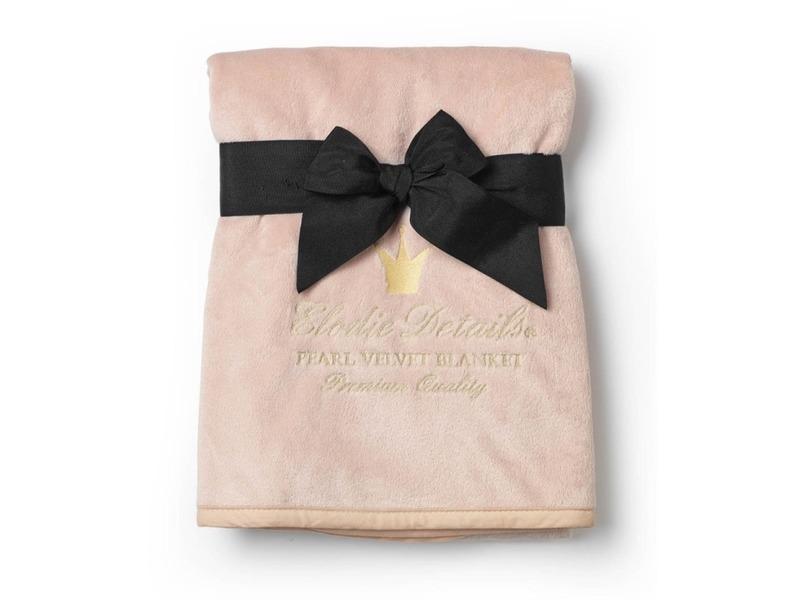 Elodie Details Sametová deka Powder Pink