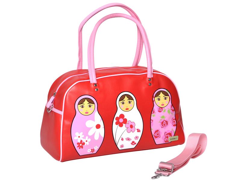 Bobble Art Dívčí kabelka červená / růžová