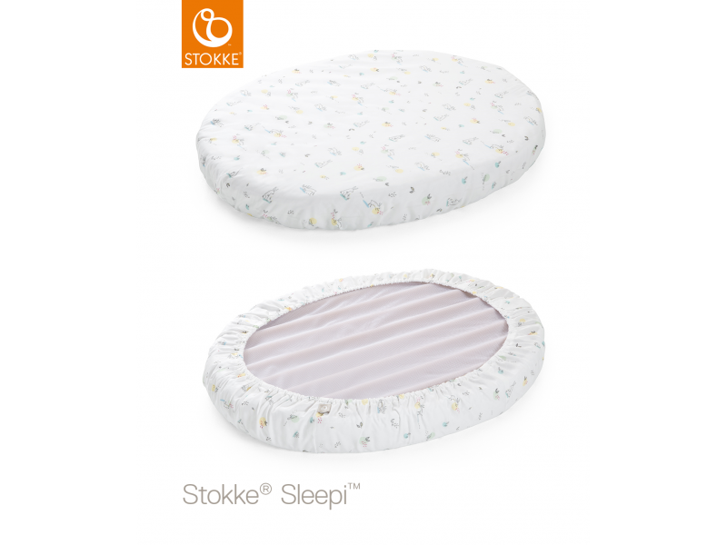 Stokke Prostěradlo do postýlky Sleepi™ Mini 80cm, Soft Rabbit