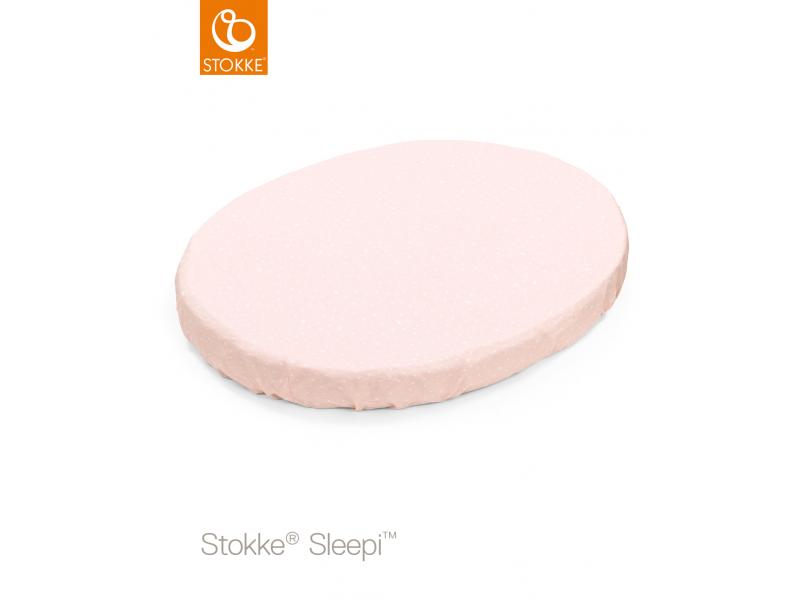 Stokke Prostěradlo do postýlky Sleepi™ Mini 80cm, Pink Bee (Organic Cotton)