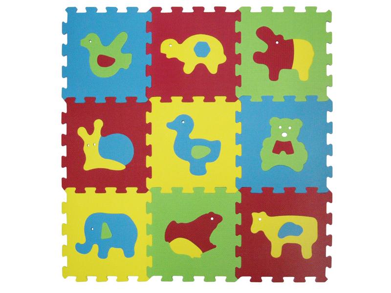 Puzzle pěnové 84x84 cm zvířátka Basic 1