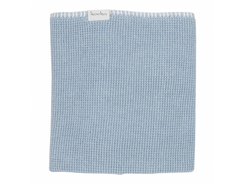 Pletená deka Vizela letní - soft blue, 75x100cm 1