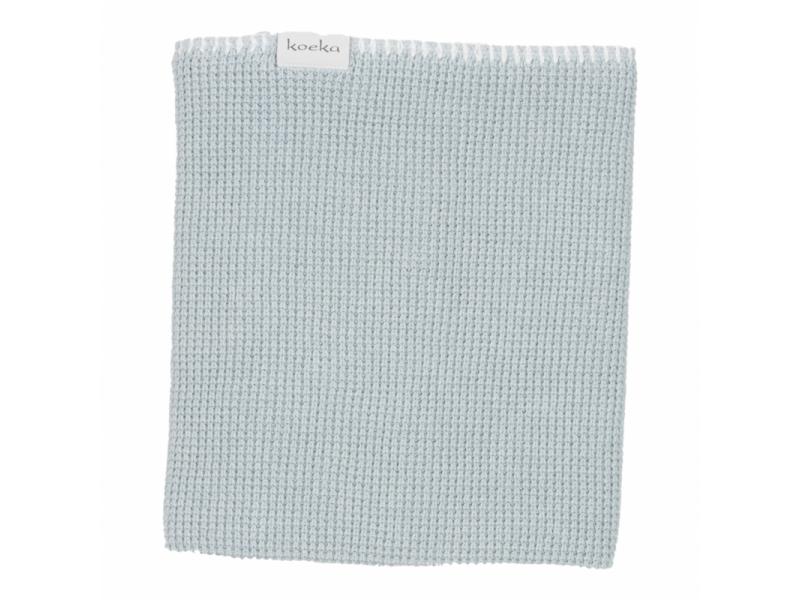 Koeka Pletená deka Vizela water sapphire/letní