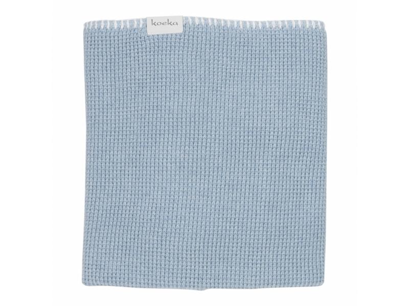 Koeka Pletená deka Vizela soft blue/letní 100x150 cm