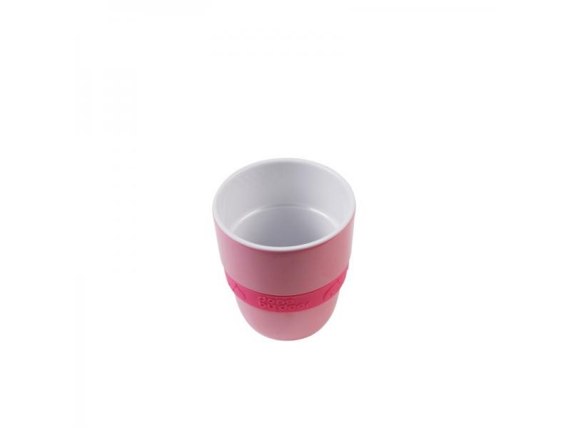 Hrníček Elphee Yummy mug se silikonovým kroužkem - malinový 1