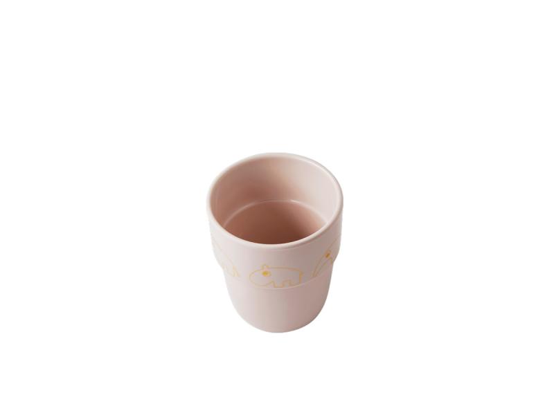 DONE BY DEER Hrníček Contour Yummy mug - růžová/zlatá