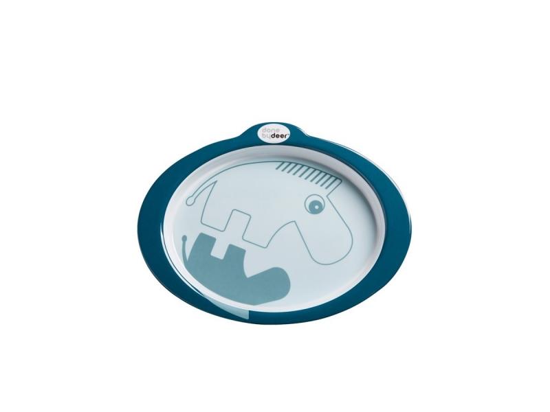 Protiskluzový talíř s úchyty Contour - tmavě modrá 1
