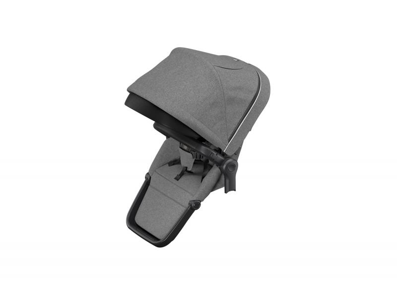 Sleek Sibling Seat Grey Mel on Black 1