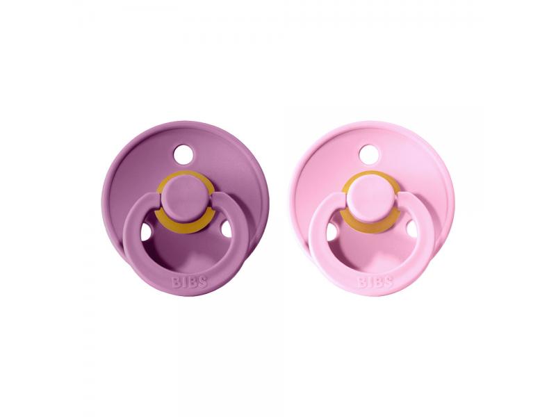 Dudlíky COLOUR Lavender/Baby Pink - velikost 1, přír. kaučuk 2ks 1
