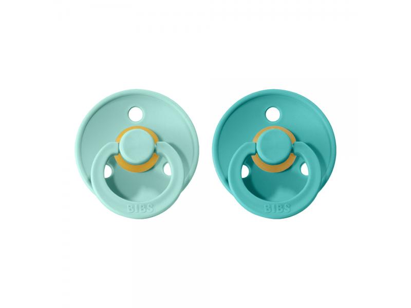 Dudlíky COLOUR Mint/Turquoise - velikost 1, přír.kaučuk 2ks 1