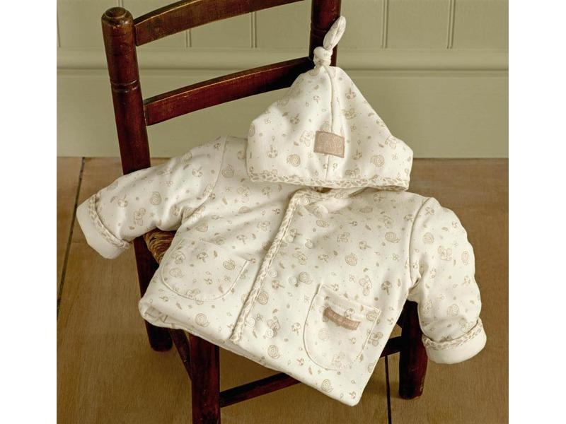 Natures Purest Zateplený kabátek s kapucí Little Leaves 0-3m