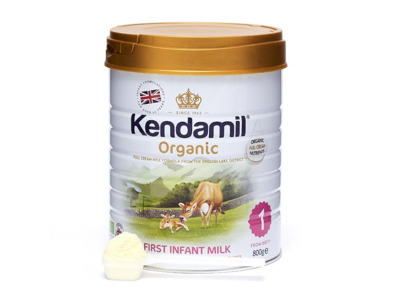 Kendal Nutricare Kendamil 100% BIO - organické plnotučné kojenecké mléko 1 (800g)