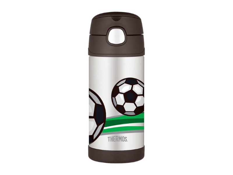 Thermos Dětská termoska s brčkem - fotbal